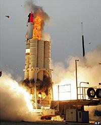 Israel thử tên lửa phòng thủ