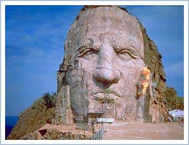 Gương mặt đá của Crazy Horse