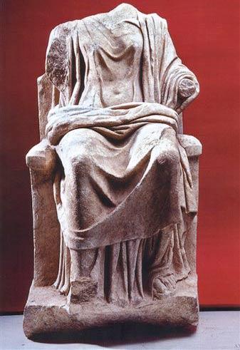 Phát hiện bức tượng của nữ thần Hera