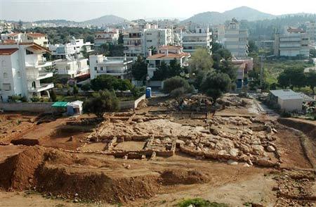 Khai quật khu chợ cổ tại Athens