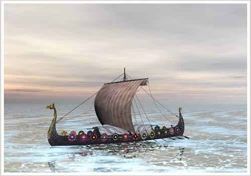 Người Viking đi biển trong ngày mây như thế nào?