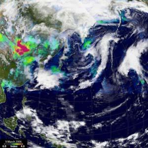 Bão Thái Bình Dương mạnh do ô nhiễm châu Á