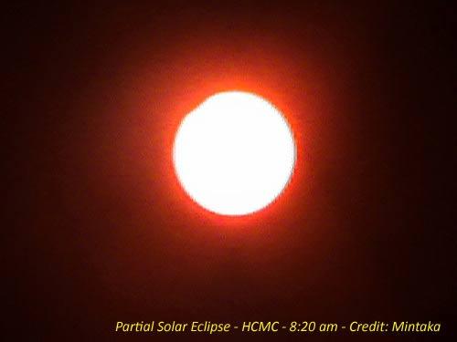 Kết quả quan sát nhật thực một phần tại Tp Hồ Chí Minh
