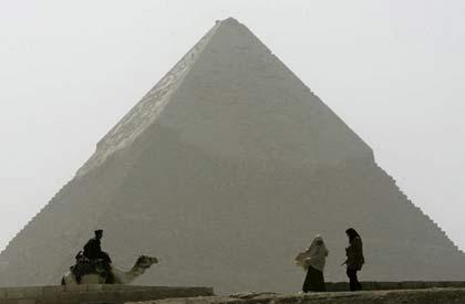 Kim tự tháp xây từ các khối đá... giả!