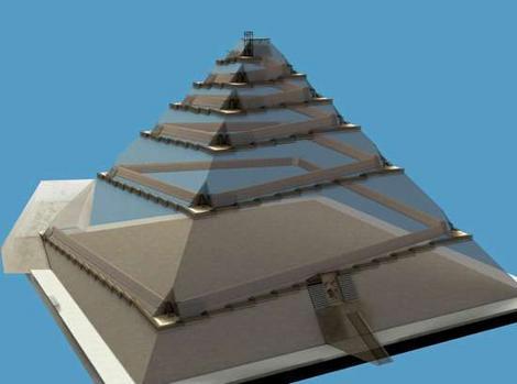 Kim tự tháp được xây từ trong ra ngoài?