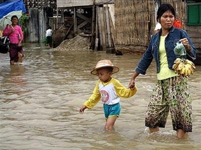 Myanmar: 5 người chết trong trận mưa lớn nhất sau 50 năm