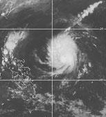 Mắt bão Yutu bắt đầu hé mở