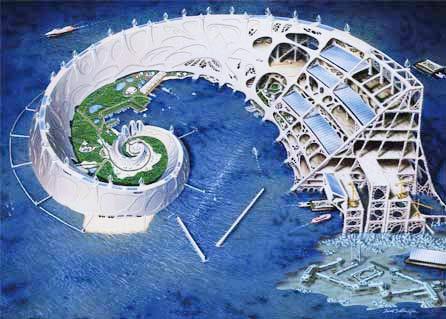 Xây thành phố từ nước biển