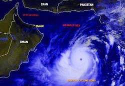 Mắt bão Gonu to khủng khiếp
