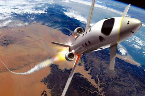 """""""Máy bay tên lửa"""" dành cho du khách muốn bay vào không gian"""