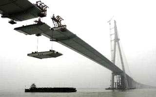 Trung Quốc: cầu treo dài nhất thế giới