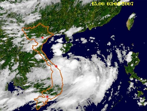 Áp thấp nhiệt đới ở vùng biển Trung Trung Bộ