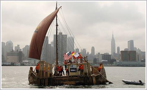 Vượt Đại Tây Dương bằng thuyền sậy thời tiền sử
