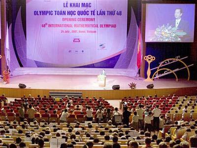 Khai mạc Olympic Toán quốc tế: Tràn ngập sắc màu