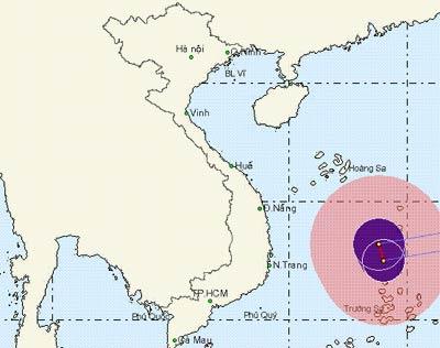 Cảnh giác với áp thấp nhiệt đới ở Nam Biển Đông