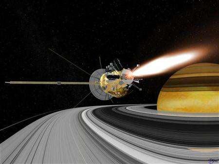 Tàu Cassini có nguy cơ bị hỏng do hạt băng
