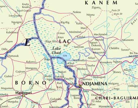 Và đây là hồ Chad năm 2003