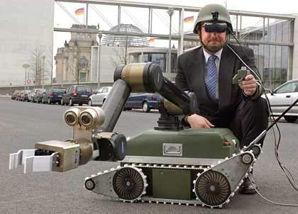 Robot ra trận