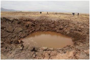 Dân Peru phát ốm vì hố thiên thạch