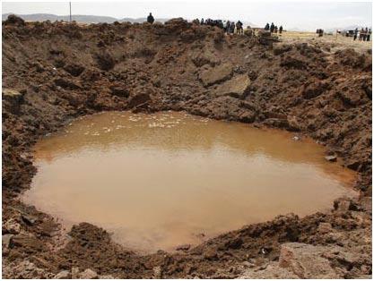 """""""Hố thiên thạch"""" ở Peru có thể do vệ tinh Mỹ gây ra"""