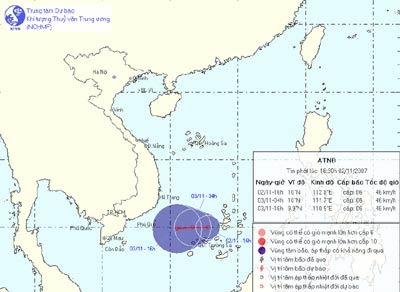 Áp thấp nhiệt đới gây mưa lớn diện rộng
