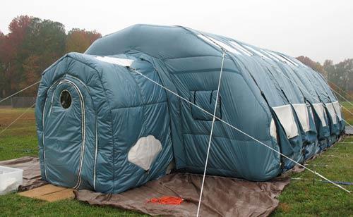 Thử nghiệm lều gấp đặc biệt dùng trên mặt trăng