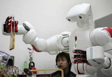 Robot dọn bàn ăn