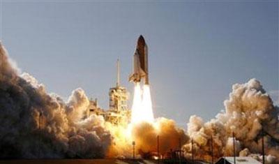 Tàu Discovery bay vào không gian