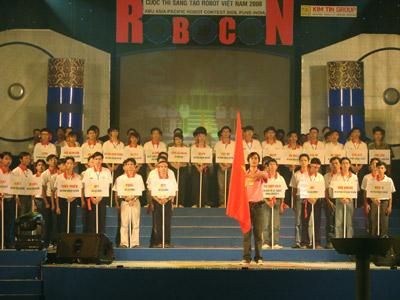 Khai mạc Robocon 2008: Hoành tráng và sôi động