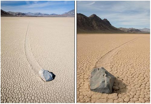 Bí ẩn đá tự dịch chuyển trên Thung lũng Chết
