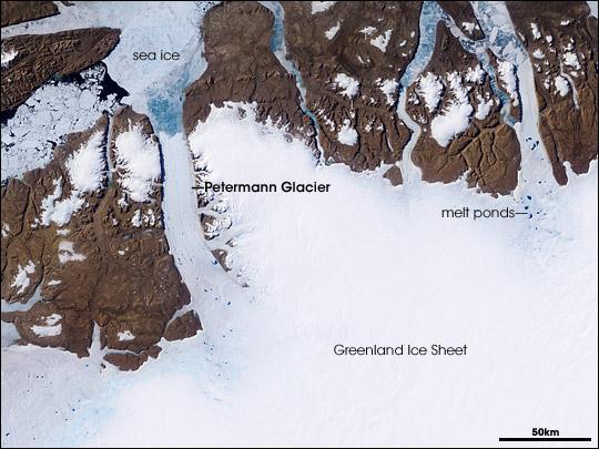 Dải băng Greenland tan chảy làm mực nước biển tăng nhanh hơn