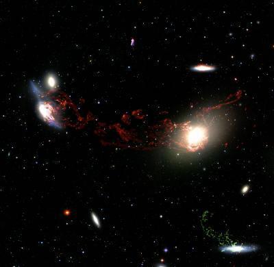 Sao không hình thành khi các thiên hà lớn va đụng