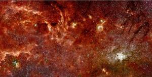 Hình ảnh trung tâm thiên hà qua ống kính Hubble