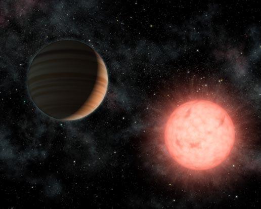 Hành tinh giống sao Mộc quay quanh một trong những ngôi sao nhỏ nhất
