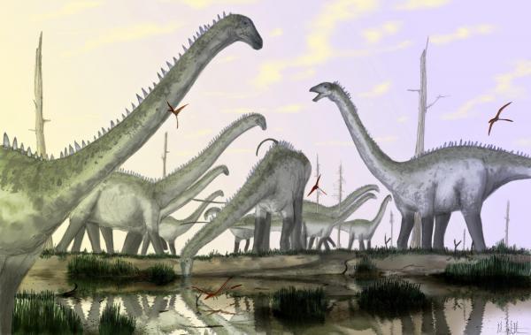 Tư thế của khủng long cổ dài hoàn toàn sai