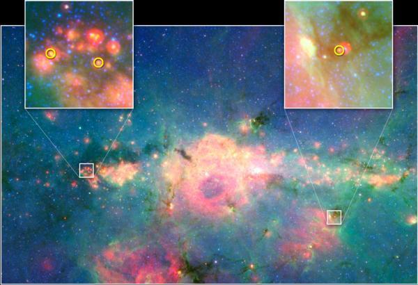 Phát hiện những ngôi sao mới sinh tại trung tâm thiên hà