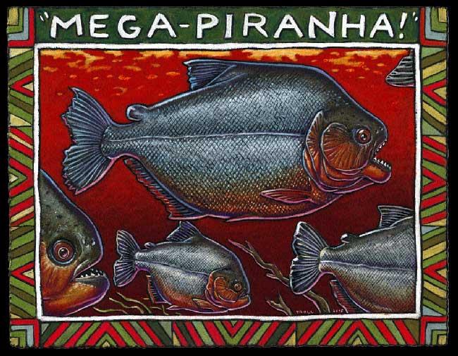 Hoá thạch Piranha dài 3 feet