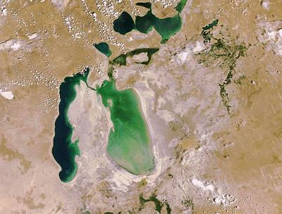 Biển hồ Aral đang thu hẹp nhanh chóng