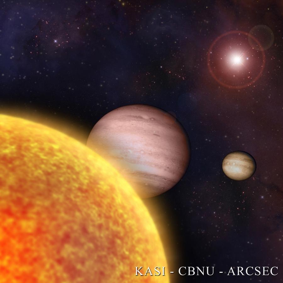 Trò billard của các hành tinh khổng lồ