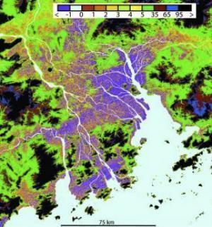 Sụt lún tại khu vực châu thổ có liên quan tới hoạt động của con người