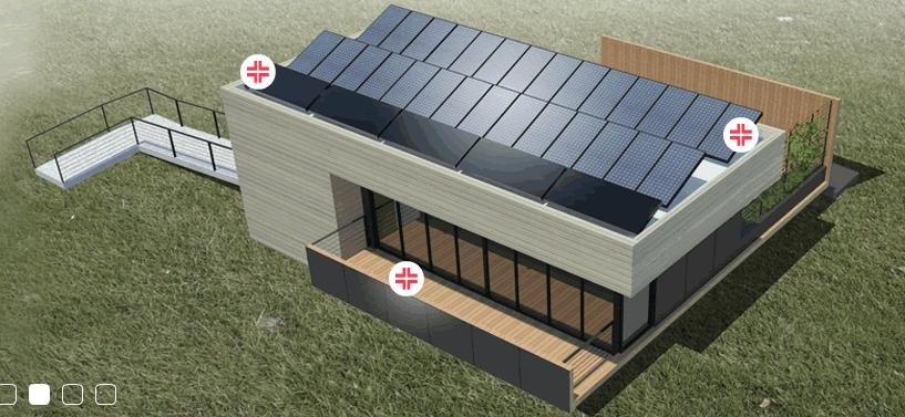 Nhà mặt trời - công trình của các sinh viên đại học