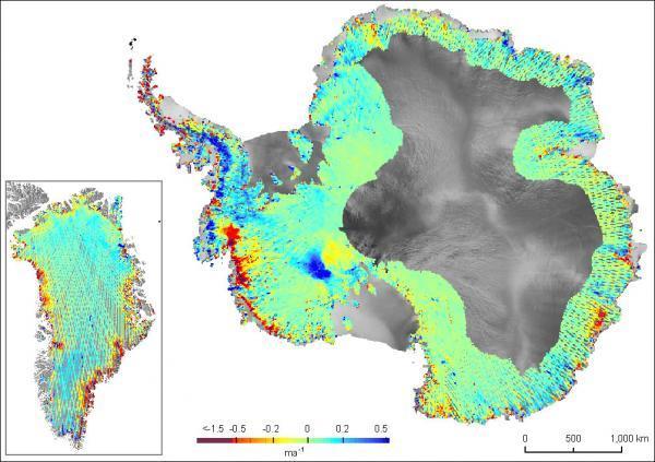 Tan chảy băng vùng đảo Greenland và Nam Cực