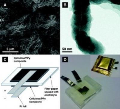 Pin làm từ giấy cung cấp năng lượng cho thiết bị điện tử trên quần áo và bao bì