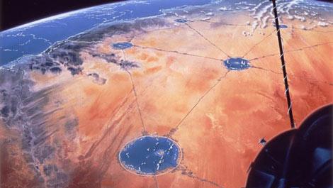 Xây dựng hệ thống hồ nước khổng lồ giữa sa mạc