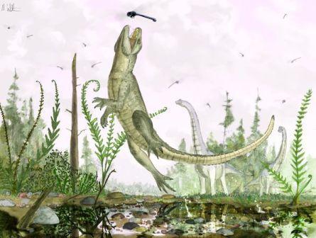"""Tìm thấy hóa thạch """"cá sấu mèo"""" ở Đông Phi"""