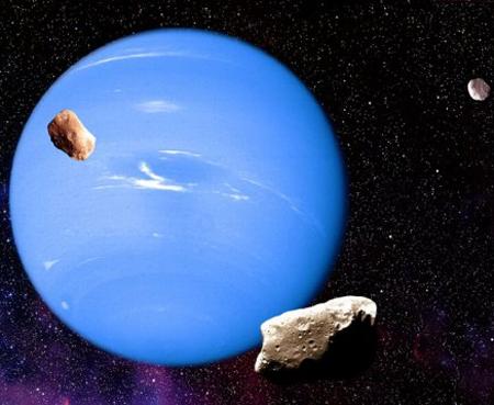 Mặt trời, trái đất, sao Hải Vương xếp thành hàng sau 164 năm