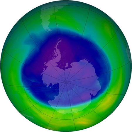 Dấu hiệu khả quan trong công tác phục hồi tầng ozone
