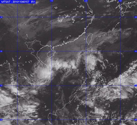Nam Trung Bộ sẽ có mưa to do áp thấp nhiệt đới