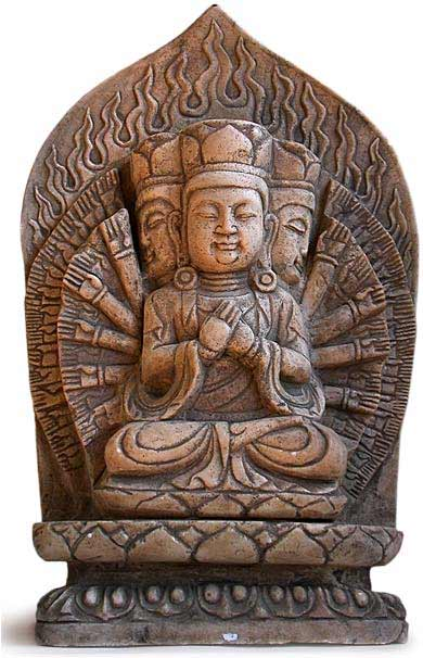 Nghệ thuật khắc tượng đá về các vị thần