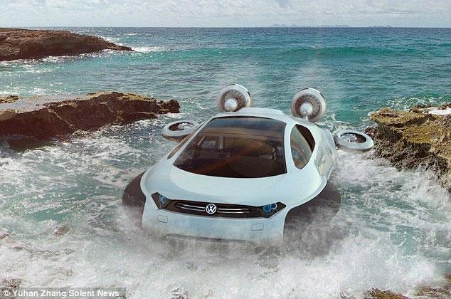 Ô-tô chạy trên nước, băng, cát...